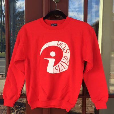 Kids IS Crew Neck Sweatshirt - red